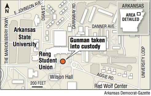 Asu Jonesboro Campus Map.Standoff At Asu Ends Peacefully