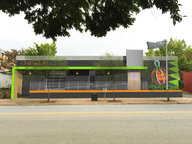 Bowling Alley Construction : Images beer hall retro bowling alley pitched for
