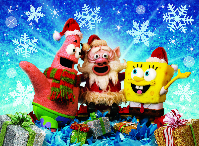 its a spongebob christmas stars from left patrick santa claus and spongebob squarepants the special airs at 630 pm today on nickelodeon - Peanuts Christmas Special