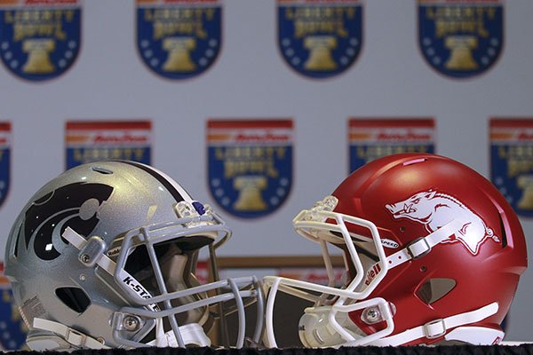 Arkansas is scheduled to play Kansas State in the Liberty Bowl at 2:20 p.m. on Saturday, Jan. 2, 2016, in Memphis, Tenn.