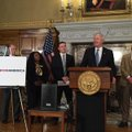 Gov. Asa Hutchinson speaks about a $6 million Teach for America partnership as Little Rock School Di...