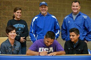 Austin Salazar signs ...