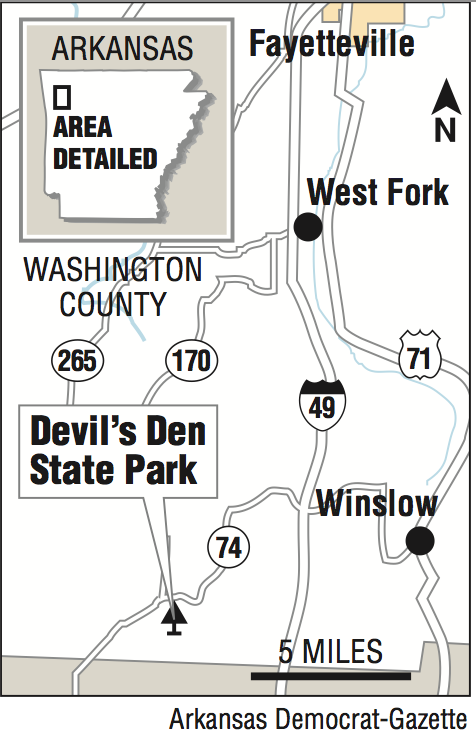 Devils Den Arkansas Map.Happy Trails Devil S Den Trail
