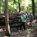 Hikers work their way through rock formations while exploring Lost Ridge Trail on Sept. 16 2015 at L...