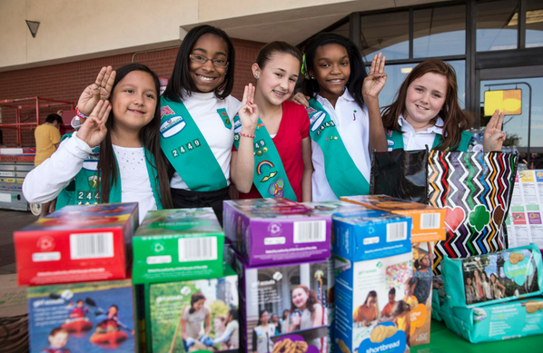 2 girl scouts sell cookies near pot dispensary nwadg