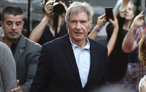 In this December 10, 2015 file photo Harrison Ford walks during a Star Wars fan event in Sydney.