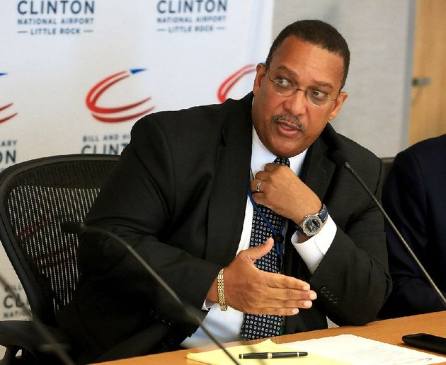 ron-mathieu-executive-director-at-bill-and-hillary-clinton-national-airport-adams-field-is-shown-in-this-file-photo