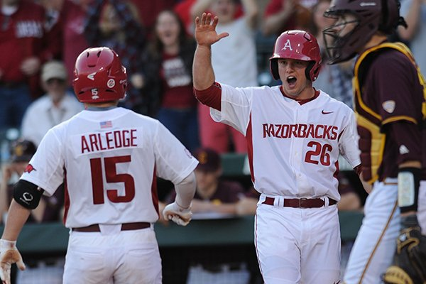 WholeHogSports - Hogs top Central Michigan on opening day