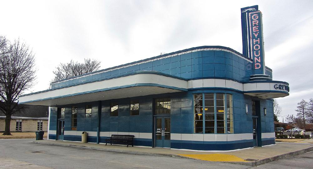 The historic Greyhound bus station attracts visitors in Blytheville.