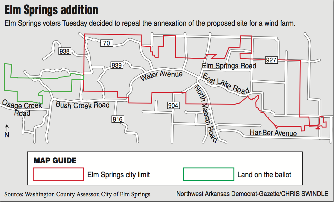 Firm drops wind farm plan after annexation repeal vote nwadg for Wind mobile family plan