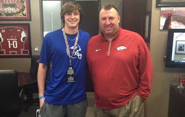 Attalla (Ala.) Etowah class of 2017 quarterback Daulton Hyatt was offered by Arkansas on Saturday, March 5, 2016.