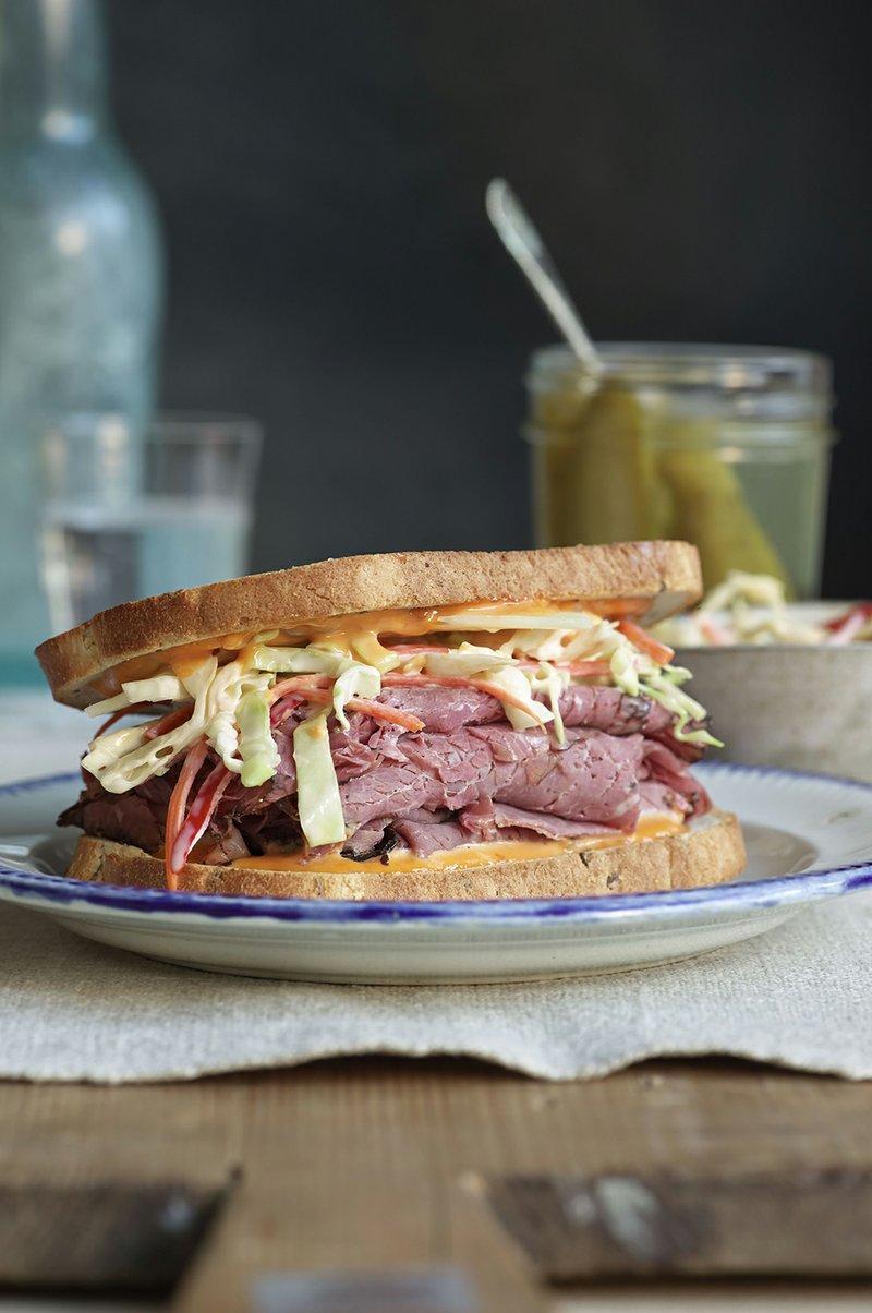 Hot sandwich on rye crossword