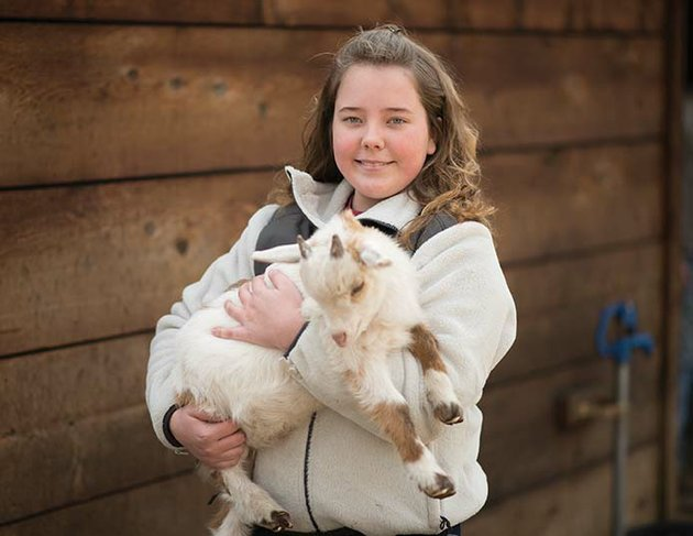 gracie-kate-lee-11-of-clinton-is-a-mutt-i-grees-national-student-ambassador-she-has-a-menagerie-of-animals-including-this-nigerian-dwarf-goat-she-calls-mr-nibbles-jr-gracie-recently-attended-a-two-day-celebration-in-new-york-city-where-she-received-a-crystal-collar-award-from-the-north-shore-animal-league-america-which-sponsors-the-mutt-i-grees-curriculum-in-schools-across-the-united-states