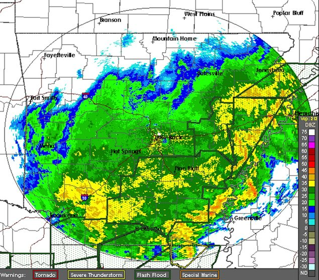 Flash Flood Warning Issued For 34 Arkansas Counties