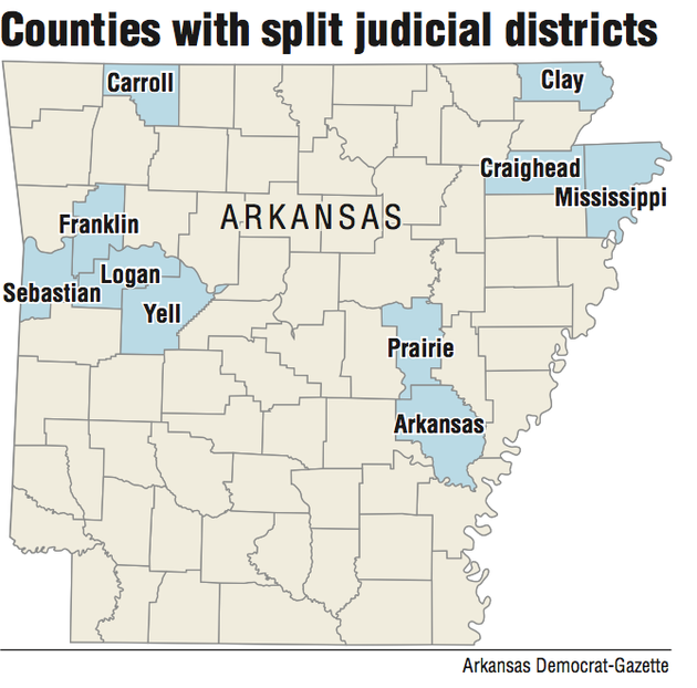 Twoseat Counties No Votes Ever Held - Map of arkansas counties