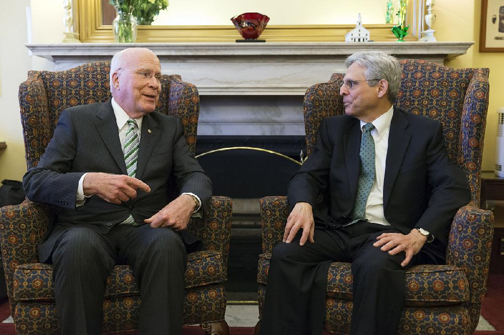 Judicial Nominations >> Sen. Patrick Leahy, D-Vt., (left) the top Democrat on the ...
