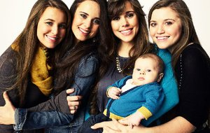Jill and Jessa: Counting On features the lives of the older Duggar sisters, including (from left) Jana, Jinger, Jessa Duggar Seewald (holding her son Spurgeon) and Joy-Anna.