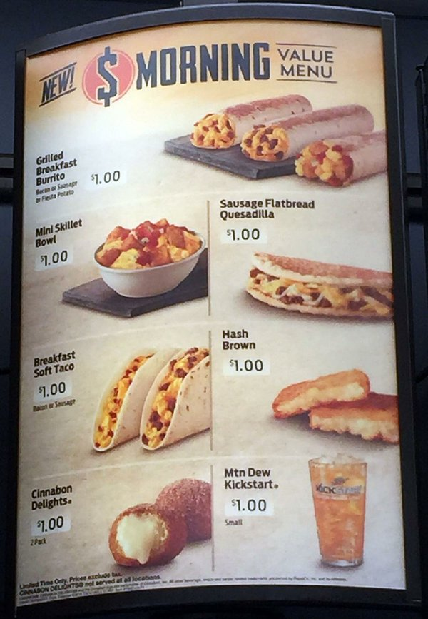 REVIEW: Taco Bell's breakfast bang for buck  Taco