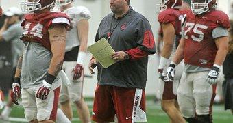 Arkansas coach Bret ...