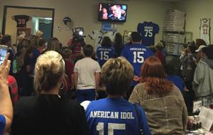 About 85 people attended a watch party Thursday at Larry's Pizza in Malvern to see resident Trent Harmon named the final winner of American Idol.