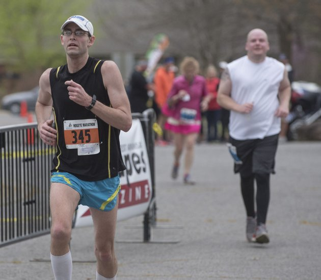 grant-stieglitz-of-fort-wayne-ind-was-the-first-full-marathon-runner-to-finish-sunday-during-the-40th-hogeye-marathon-relays