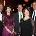 Arist and Mary Beth Mastorides (from left), Greg Russell, NWACS executive director, Renee Hutton and...