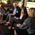 Paul Hewitt (center), superintendent of Fayetteville Public Schools, speaks Tuesday, Oct. 13, 2015, ...