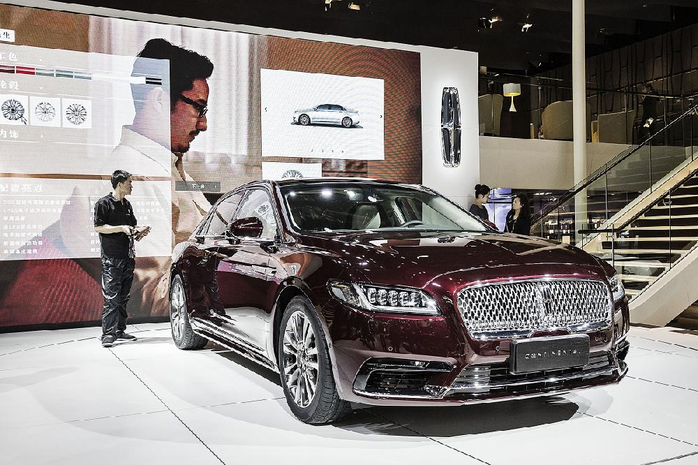 A Ford Motor Co Lincoln Continental Is Displayed Tuesday