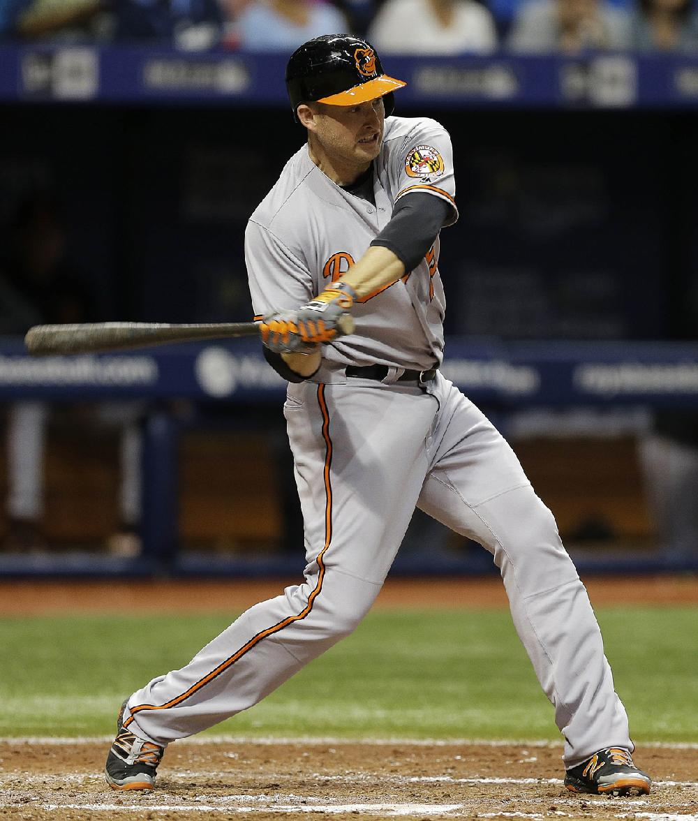 Mark Trumbo Of The Baltimore Orioles Leads The American League