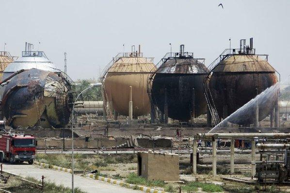 Fire Iraq Natural Gas