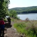 A hike on the Ozark Highlands Trail and Shepherd Springs Loop offers views of Lake Fort Smith and su...