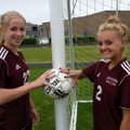 Amber Ellis (left) and Ana Linch have formed a potent 1-2 punch for the Gentry Lady Pioneers, the de...