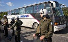 Greek police secure ...