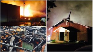 PHOTOS: Arkansas church destroyed in overnight fire