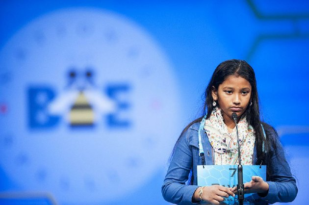 special-to-the-arkansas-democrat-gazette-05-25-2016-pavani-s-chittemsetty-10-participates-in-the-2016-scripps-national-spelling-bee-on-wednesday-may-25-2016-at-the-gaylord-national-resort-and-convention-center-in-national-harbor-md