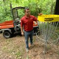 Zach Walls, assistant operations manager for Springdale's Parks and Recreation Department, shows one...