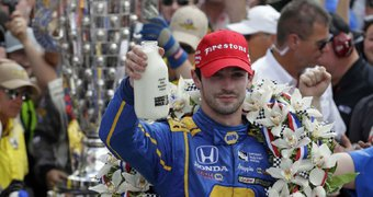Alexander Rossi nearly ...