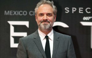 """In this Monday, Nov. 2, 2015 file photo, director Sam Mendes poses for photographers at the regional premiere of the latest James Bond film, """"Spectre,"""" at the National Auditorium in Mexico City."""