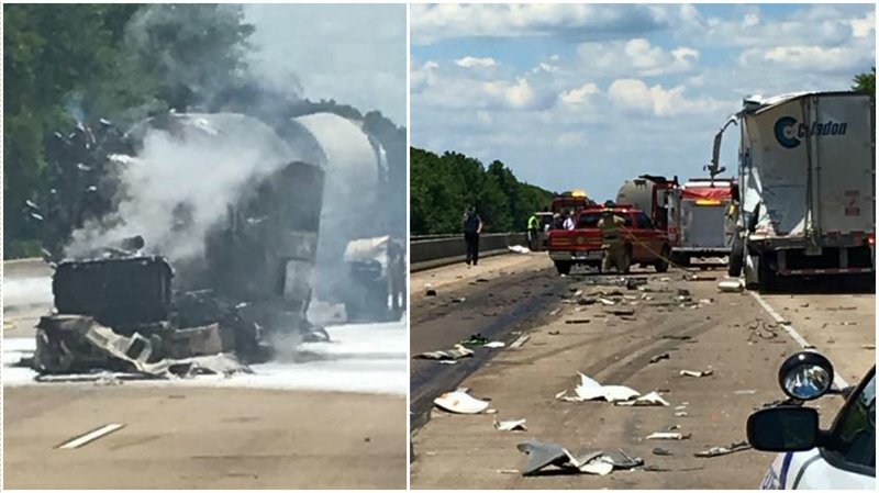 Police name Arkansas trucker killed in fiery wreck on I-40