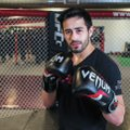 "Alejandro ""Alex"" Castaneda poses June 10 at the UFC Gym in Fayetteville. Castaneda is training for h..."