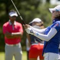 Na Yeon Choi of South Korea practices on the driving range Wednesday at Pinnacle Country in Club in ...