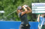 Maria Fassi, from the University of Arkansas, watches her drive off the 10th tee Friday, June 24, 2016 during the LPGA Wal-Mart NW Arkansas Championship at Pinnacle Country Club in Rogers. Fassi earned a spot in the tournament with a sponsors exemption.
