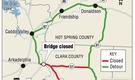 Hit by truck, Arkadelphia bridge closed
