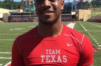 Sophomore receiver Brandon Theus performed so well at Arkansas' camp, people thought he was a 2017 prospect.