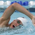 Antonio Thomas, a swimmer at Haas Hall Academy, practices Monday at the Fayetteville Athletic Club. ...