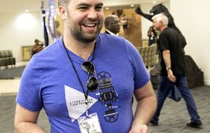 Little Rock Picture Show organizer Justin Nickels juggled many duties — with his smartphone always handy — during the June 11-12 festival held at the Statehouse Convention Center.