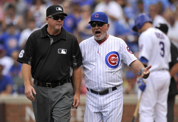 Cubs' Maddon ejected from game against Reds