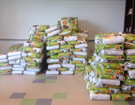 Who Donated Pallets Of Dog Food To
