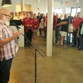 John Tyson, board chairman for Tyson Foods, speaks Thursday during the opening of the Tyson Foods JT...
