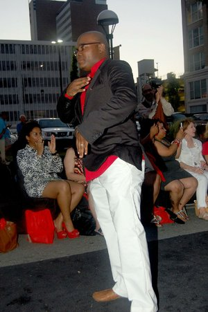 Little Rock Fashion Week founder Brandon Campbell appears in 2015 during the finale of the showing of his iME line during Little Rock Fashion Week 7's Big Night. Little Rock Fashion Week 8 events will take place July 20-23.